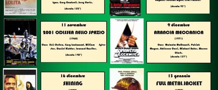 CE406) IL CINEMA DI STANLEY KUBRICK a cura del regista Benedetto PARISI   dal 14 ottobre 2016 il venerdì ore 16.00—19.00